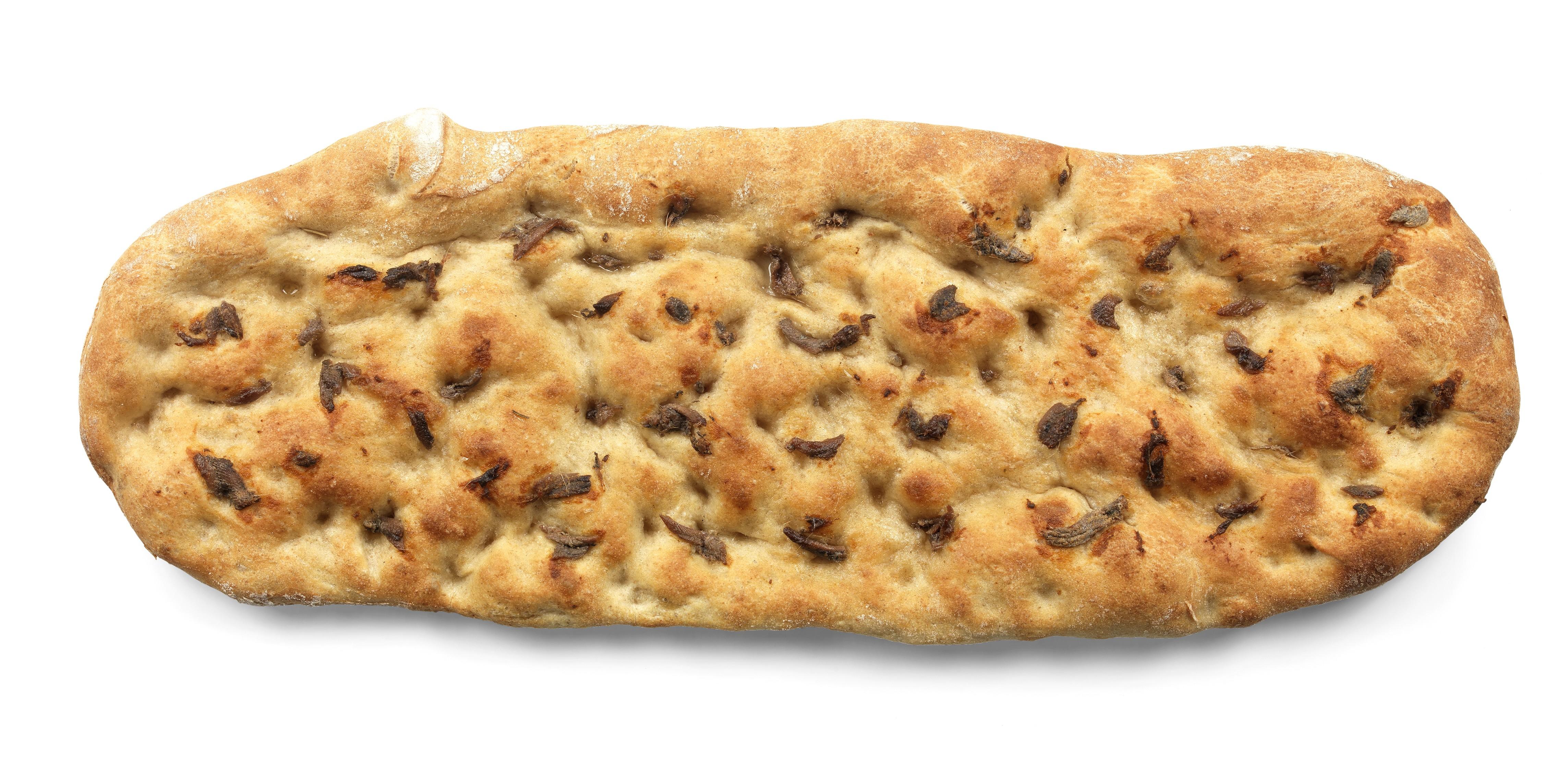 Pizza casereccia con acciughe